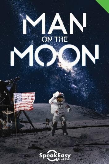 English Book Man on the Moon