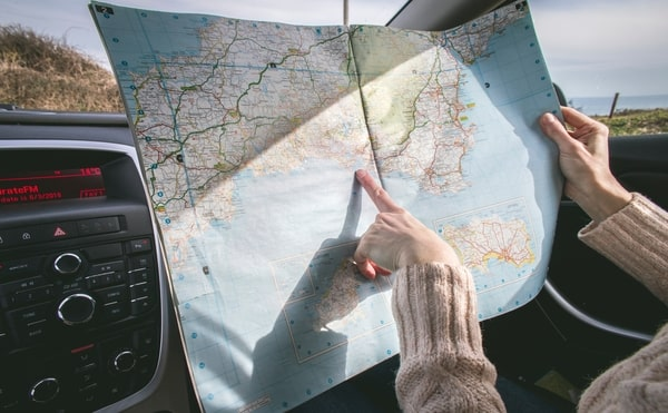 Asking for and Giving Directions on a map