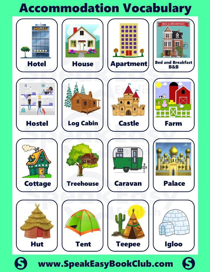 Accommodation Vocab